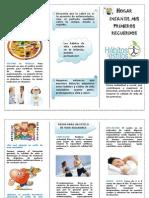 folleto habitos saludables
