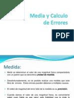Media y Calculo de Errores