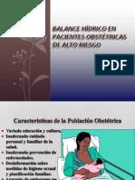 Balance Hídrico en Paciente Gestante de Alto Riesgo