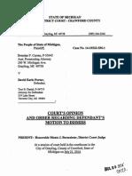 People v Porter - MMMA Transport Order - Crawford DC - 07-21-14 Ocr