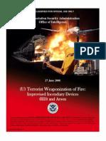 TSA Weaponization of Fire
