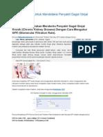 Mengukur GFR Untuk Mendeteksi Penyakit Gagal Ginjal Kronik