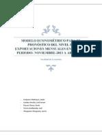 Modelo Econometrico Para Pronosticos de Exportacion