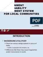 ENVIRONMENT SUSTAINABILITY ASSESSMENT SYSTEM FOR LOCAL COMMUNITIES