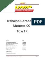 Trabalho Geradores e Motores CC - TC e TP.