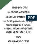 BUSSINESS CENTRE OF TKJ.docx