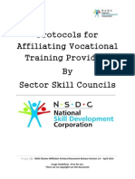 Affiliation Protocol Document for All Other Training Providers
