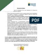 Declaración Pública - Congreso Feuv 2014