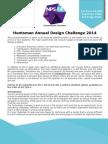 Huntsmann Design Challenge 2014 - NPS 2014