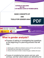 Basic Concepts Tools Gender Analysis
