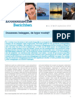 Economische Berichten - Duurzaam beleggen, de hype voorbij?