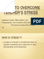 Ways to Overcome Teacher's Stress