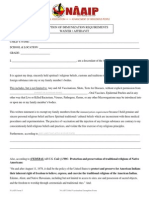 NAAIP Tribal Vaccination Exemption Form PDF