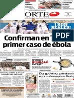 Periódico Norte edición del día 1 de octubre de 2014