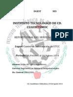 Reporte de Entregra de Servicio Final Para Liberacion 2014