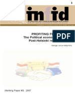 Working Paper 3 - The Political economy of Aceh's Post-Helsinki reconstruction