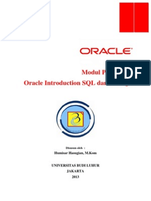 Modul Oracle Introduction SQL Dan PLSQL