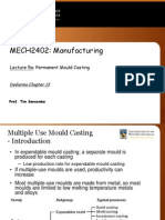 Lecture 05aW Permanent Mould Casting
