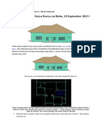 Atap Rumah Bentuk Leter L 3D Di Autocad
