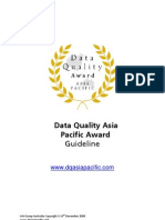 Data Quality Asia Pacific Award Guideline