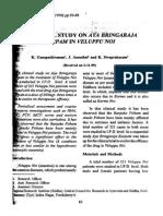 A Clinical Study on Aya Bringaraja Karpam in Veluppu Noi