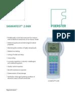 Sigmatest Device Sheet