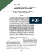 Efficiency of Landsat TM and ETM+ for Extraxcting Soil Information