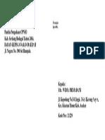 Format Amplop 23x11cm PENGIRIM