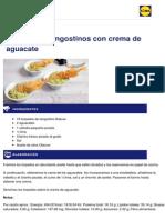 Lidl Recetas - Torpedo de Langostinos Con Crema de Aguacate - 2014-01-07