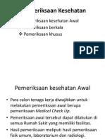 Pemeriksaan Kesehatan..
