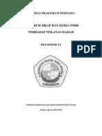 Lap p.fisiologi - Pengaruh Sikap & Kerja Fisik Terhadap Tekanan Darah (E1)