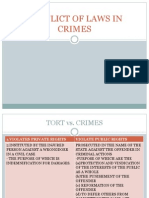 Conflict of Law in Crimes