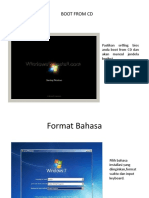 Installasi SISTEM OPERASI Windows 7