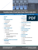 Feasibility Study of Small Hydro Plants in India