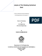 Vibration Analysis of Thin Rotating Cylindrical Shell