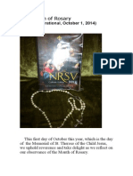 The Month of Rosary