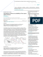 Atmospheric Effects on Availability of Free Space Optics Systems