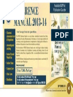 Reference Manual 2013 14