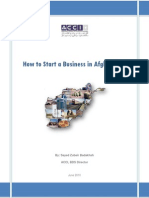 How to Start a Business in Afghanistan