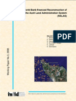 working paper, Penelitian tentang RALAS  di Aceh