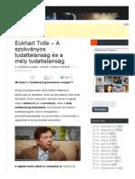 Eckhart Tolle - A Szokványos Tudattalanság És a Mély Tudattalanság - Rejtélyek Szigete (3)
