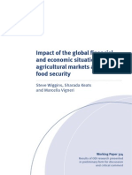 Impact of the global financial  and economic situation