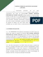 CONTRATO DE COMPRA E VENDA DE QUOTAS DE SOCIEDADE LIMITADA - scribd.docx