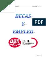 Boletín de Becas y Empleo. Semana Del 29 de Septiembre de 2014