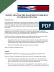 DV-2016 Program Instructions