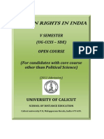 Open Course SDE VSem Human Rights in India