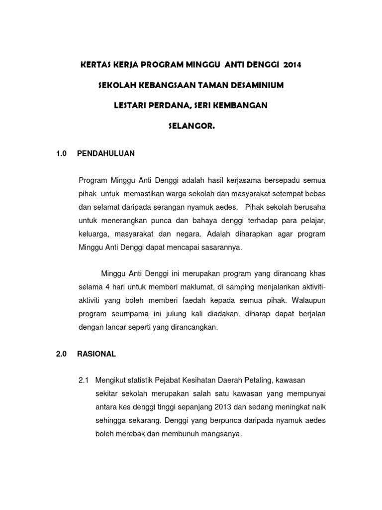 Kertas Kerja Anti Denggi
