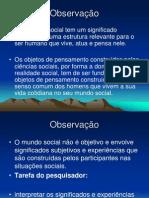 Pesquisa de Terreno Observação Participante