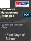 CLASSROOM MANAGEMENT Talk