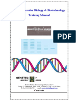 Basic Molecular Biology & Biotechnology Training Manual